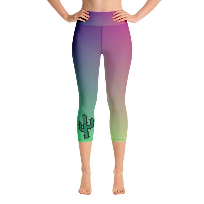 5491aab602 Cactus Capri Leggings, Rainbow High Waist Yoga Pants – Essentially Savvy